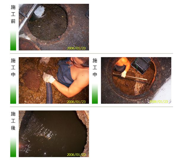 筏基水箱型化糞池疏通