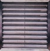 受電式不銹鋼自動防火排氣口防蟲百葉。