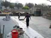 中庭聚脂纖維防水布工程