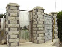 空心砖,草皮砖 高清图片