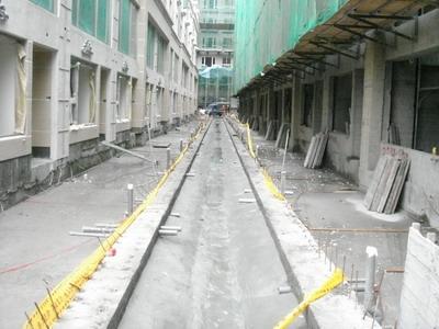 中庭排水溝防水排水處理