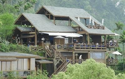 丛林木屋结构图