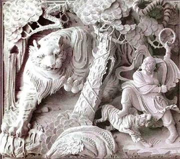 壁堵石片,木雕神龛