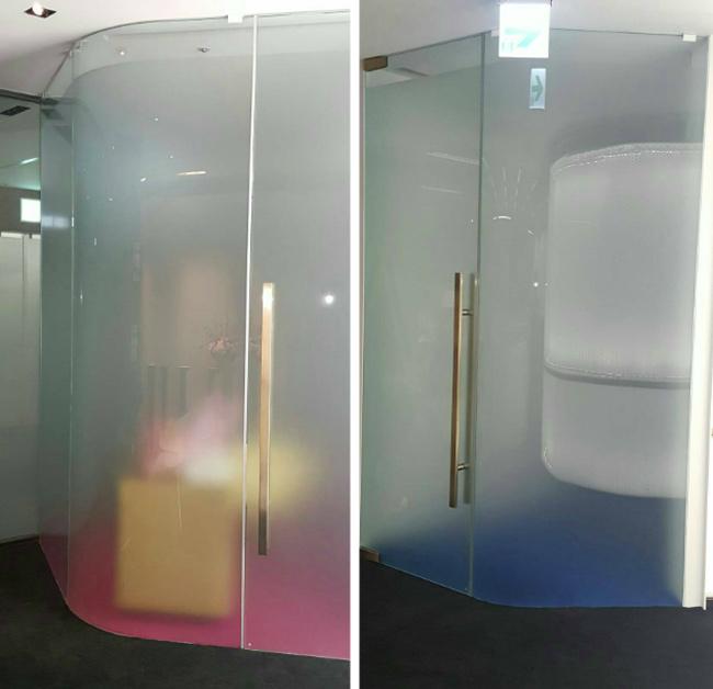 淋浴玻璃彎曲加工、玻璃加工彎曲