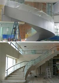 旋轉樓梯玻璃加工彎曲