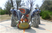 FRP藝術雕塑-彈塗魚及螃蟹