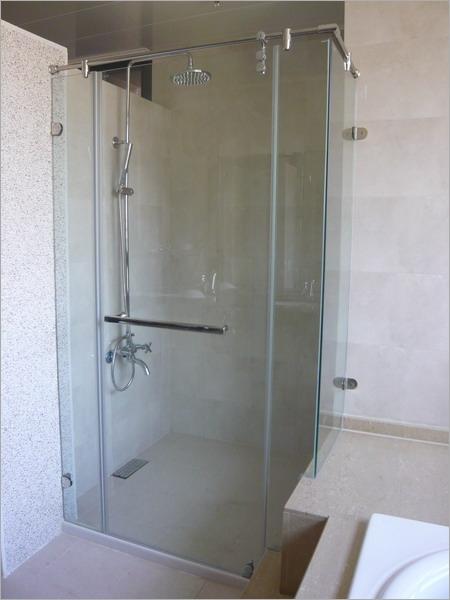 无框式淋浴拉门,无框玻璃门