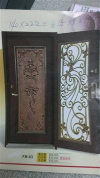 雙玄關銅門