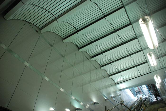 曲面圓弧造型天花及琺瑯牆板