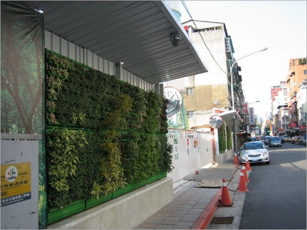 工地圍籬美化花架