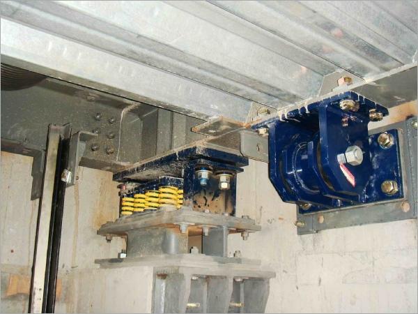 機械停車塔及電梯系統隔振器性能測試