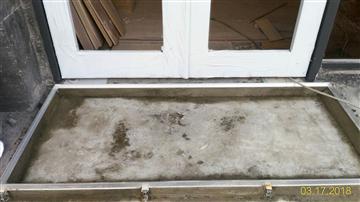 鋁合金除泥地墊(典雅型)-鋁收邊框(預埋式)-施做完成