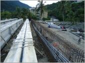 高架預力樑灌漿製作