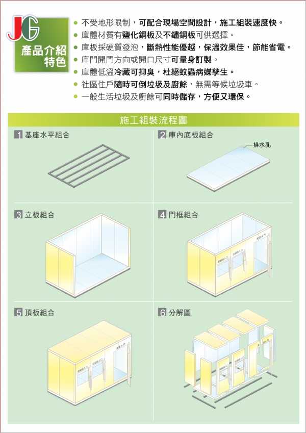 組合式垃圾廚餘冷藏庫(二)