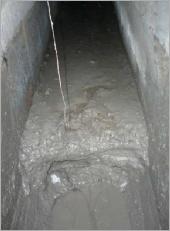 營建工地水溝汙染~硬塊打除