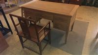 客製化實木小型書桌椅