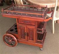 可移動式實木餐車─量身訂做設計