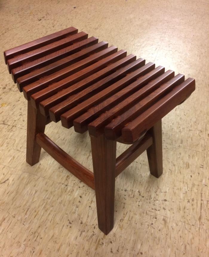 實木板條椅