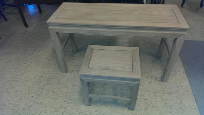 實木古琴用桌椅組