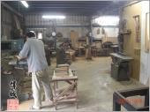 偉城工廠─現場木工施工中