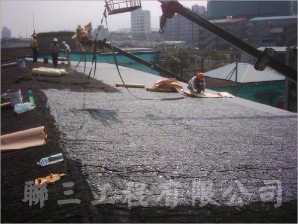 斜屋頂自黏毯防水工程