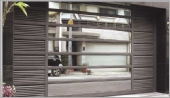 玻璃電動摺疊門