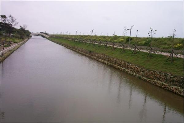 河岸保護石籠護墊