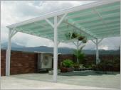 日式三合一鋁鋼構雨棚