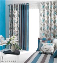 居家落地式窗簾