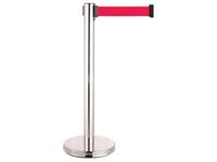 不銹鋼伸縮圍欄柱(平盤)/E85S