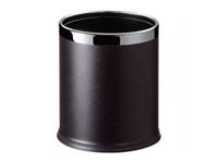 雙層套桶圓形包黑色人造皮/C45S-22