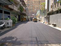 柏油道路瀝青舖設完工