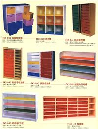 教具櫃、抽屜整理櫃、整理櫃、玩具整理櫃、四格櫃、美勞收納櫃、倒圓角四格櫃