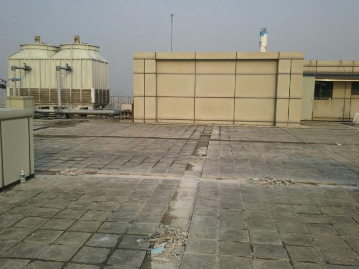 屋顶防水工程~切割排水沟