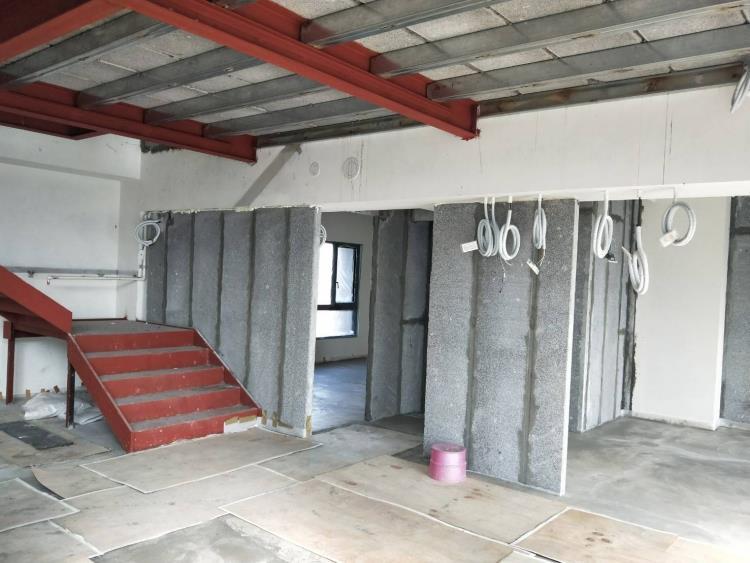 陶粒板隔間牆夾層工程_平舖式