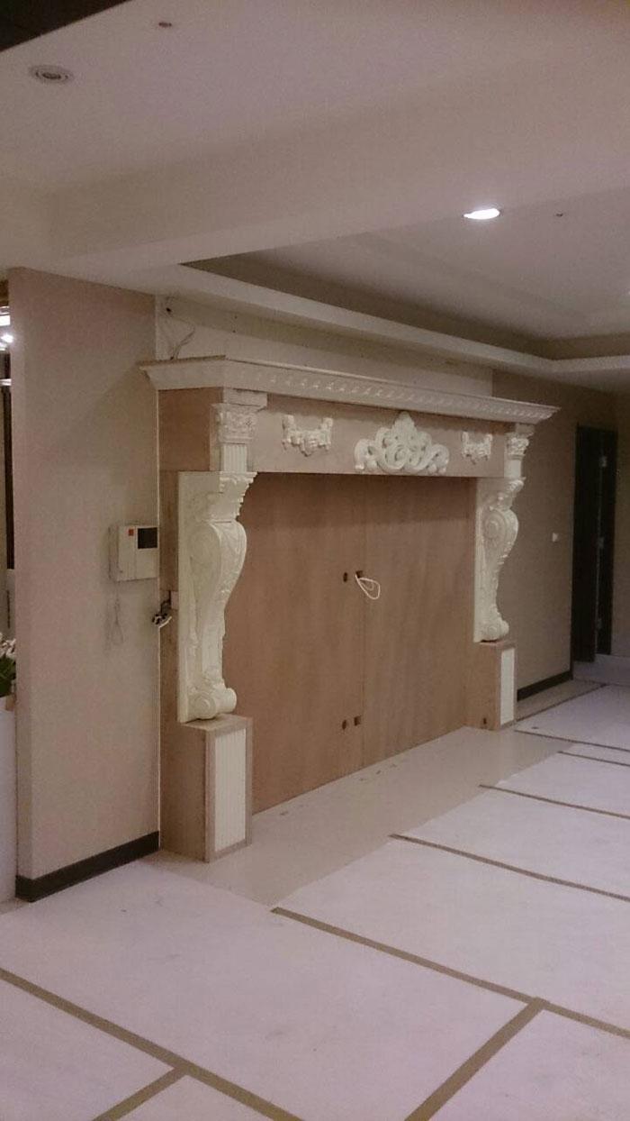 欧式罗马造型电视墙