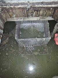 污水池攔污網雜物清除施工