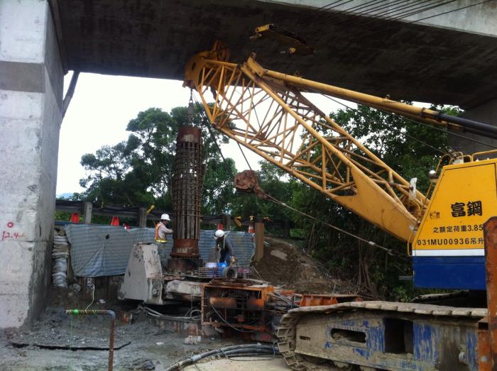 國道3號橋樑耐震補強限高基樁施工(一)