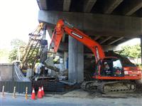 國道3號橋樑耐震補強限高基樁施工(二)