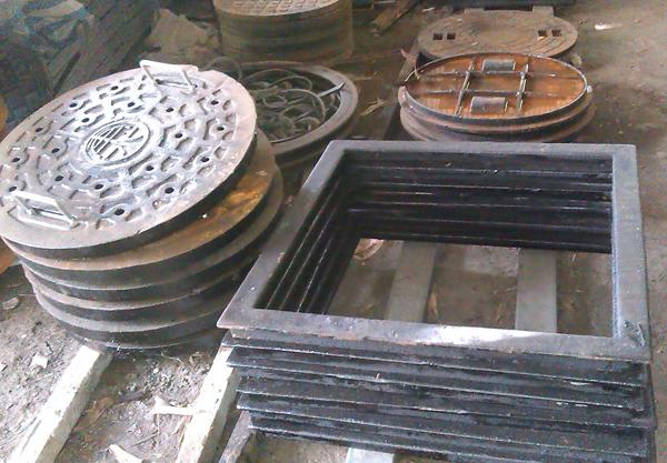人孔蓋、鑄鐵框