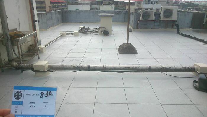 屋頂防水工程:完工