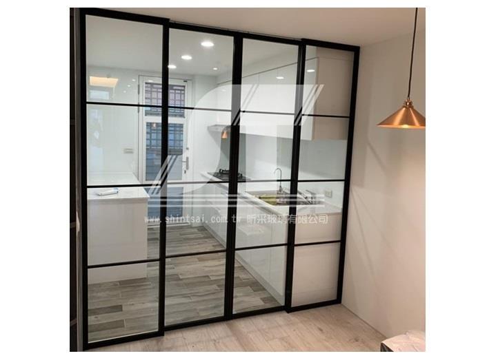 鋁框拉門 鋁框開門 懸吊門 鋁框玻璃隔間 02-2967-9869