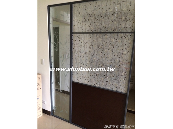 鋁框玻璃 黑色鋁框02-2967-9869、玻璃工程