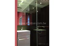 黑色淋浴玻璃一字型 L型 五角型 乾濕分離 淋浴間止水條