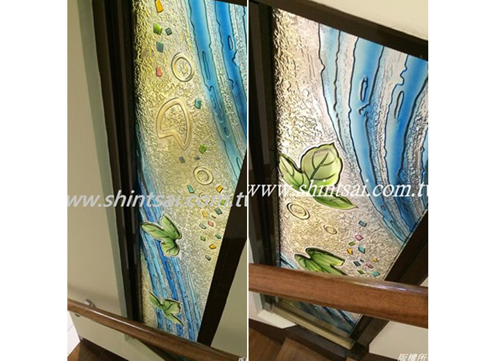 10mm彩雕玻璃02-2967-9869、藝術玻璃、彩晶玻璃