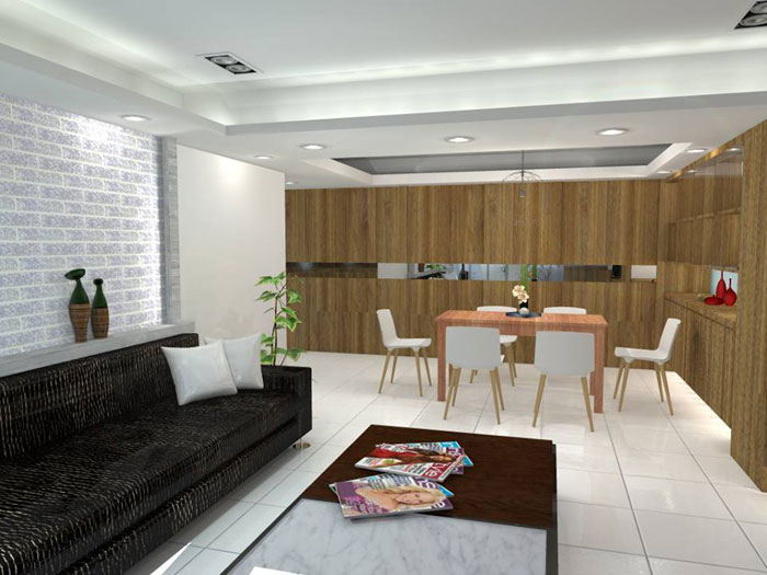 室内设计_ 客厅 空间 - 捷展 室内装修 设计工程有限 公司