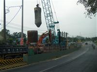 2.5M基樁施工(道路中央)
