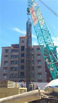基樁鋼筋籠吊放
