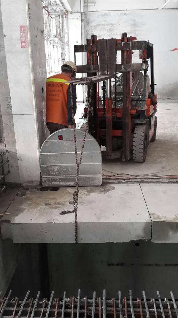 樓板切割+土石吊掛