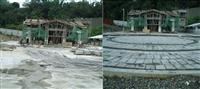 磨石子磚鋪設--小林村紀念公園